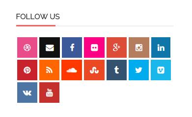 Кнопки подписок на группы/страницы социальных сетей