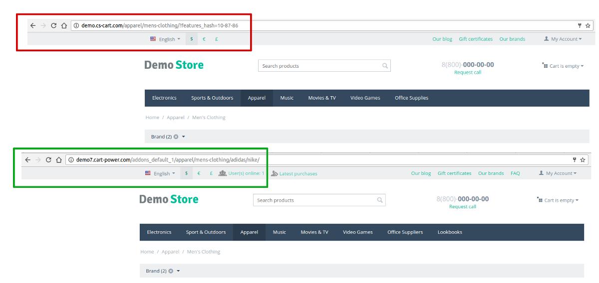 Структура и формат URL-ов в CS-Cart