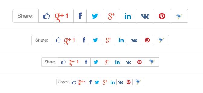 Кнопки социальных сетей для лайков и репостов