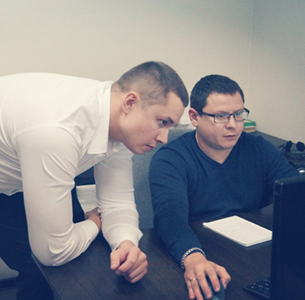 Development director Leonid Koshcheev and technical director Ruclan Khanbikov