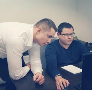 Директор по развитию Леонид Кощеев и технический директор Руслан Ханбиков