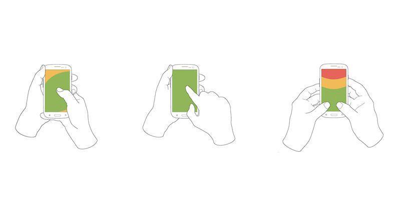 Как обычно держат смартфон
