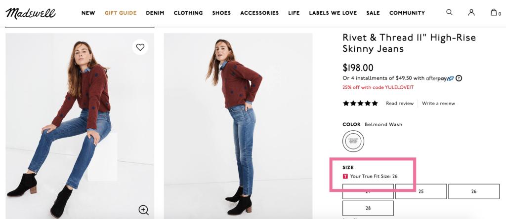 Madewell — интернет-магазин женской одежды и аксессуаров
