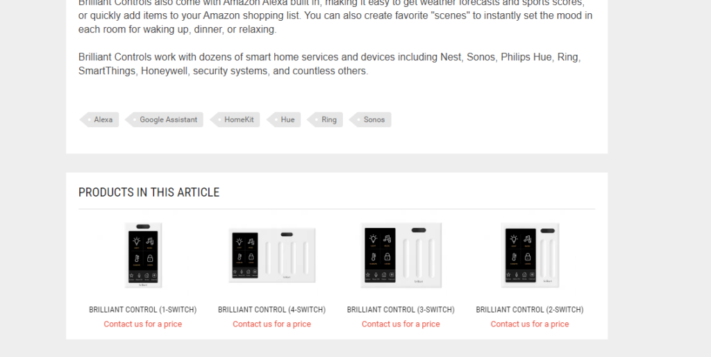 Automated Now блок с рекомендованными товарами